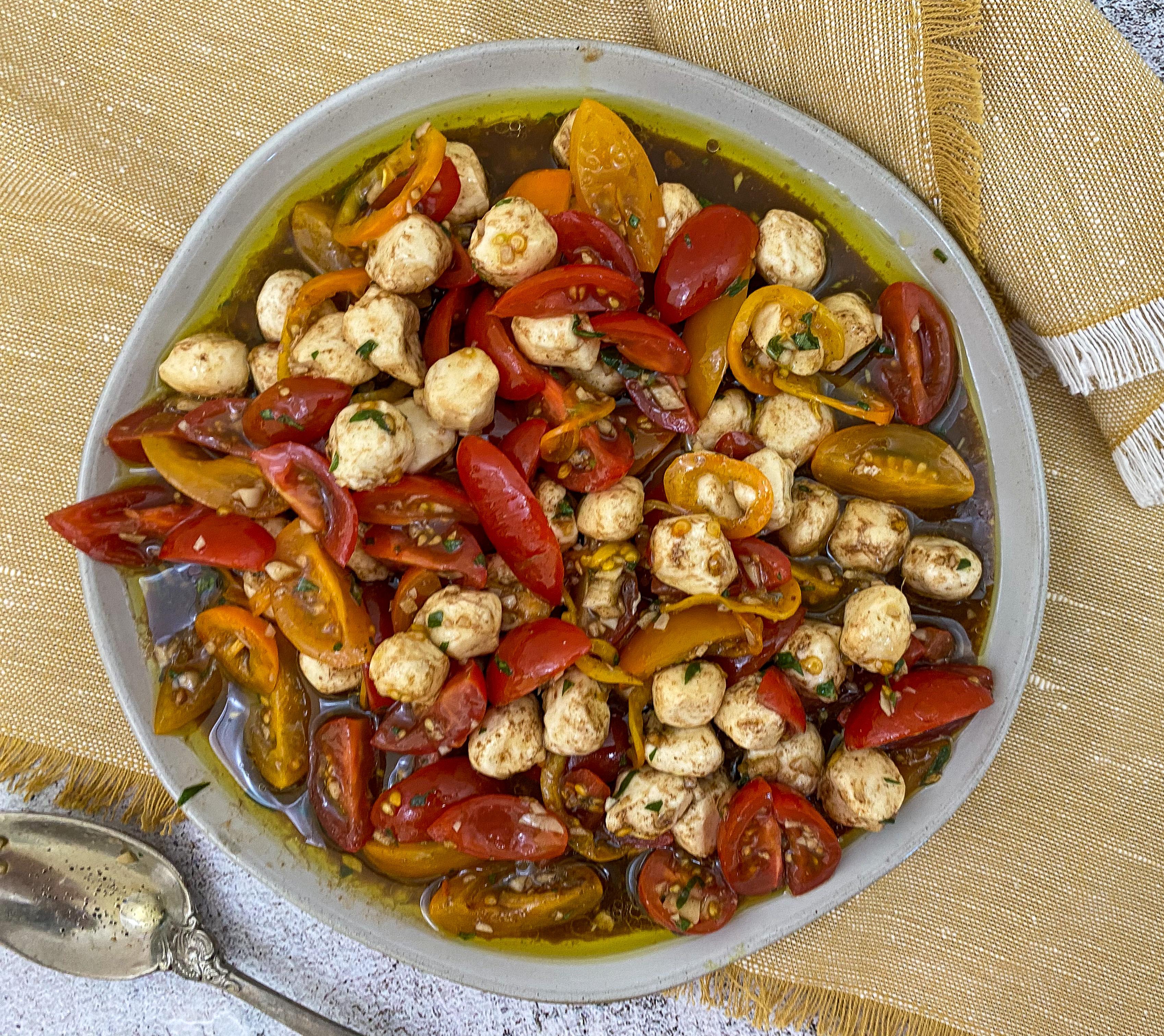 Marinated Cherry Tomato & Mozzarella