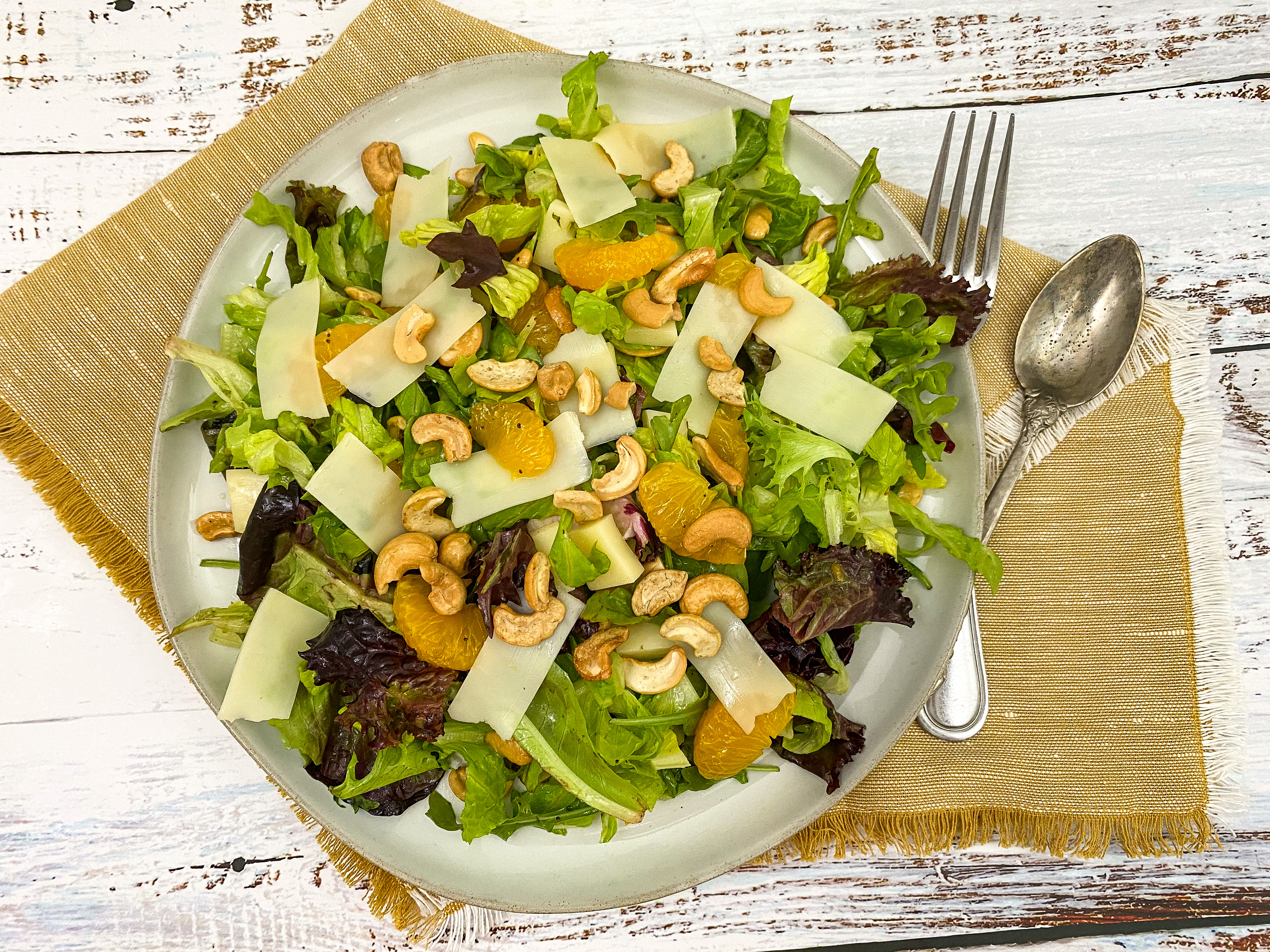 Cashew and Swiss Salad + Honey Poppy Seed Dressing