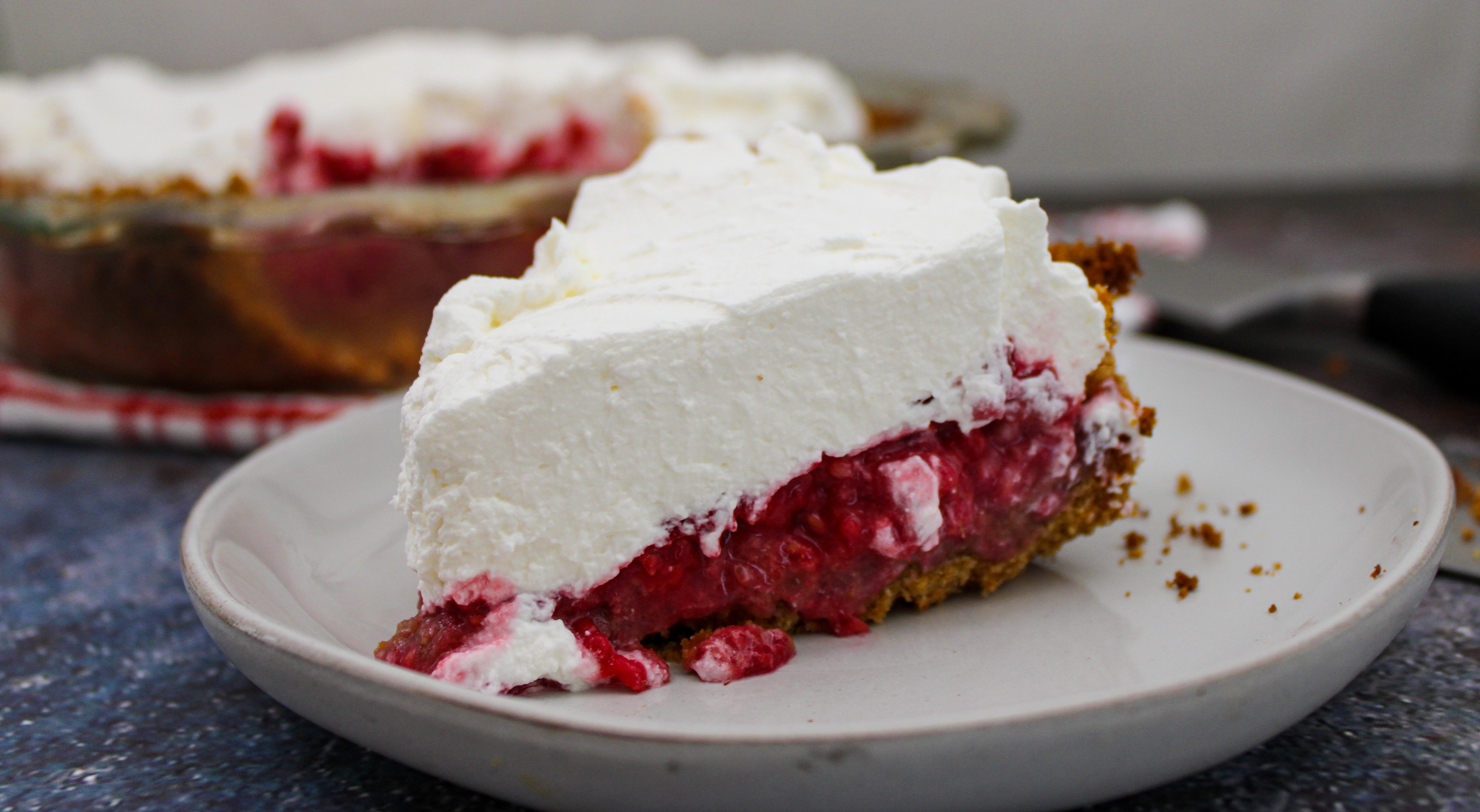 Raspberry Pretzel Pie + Whipped Mascarpone Topping