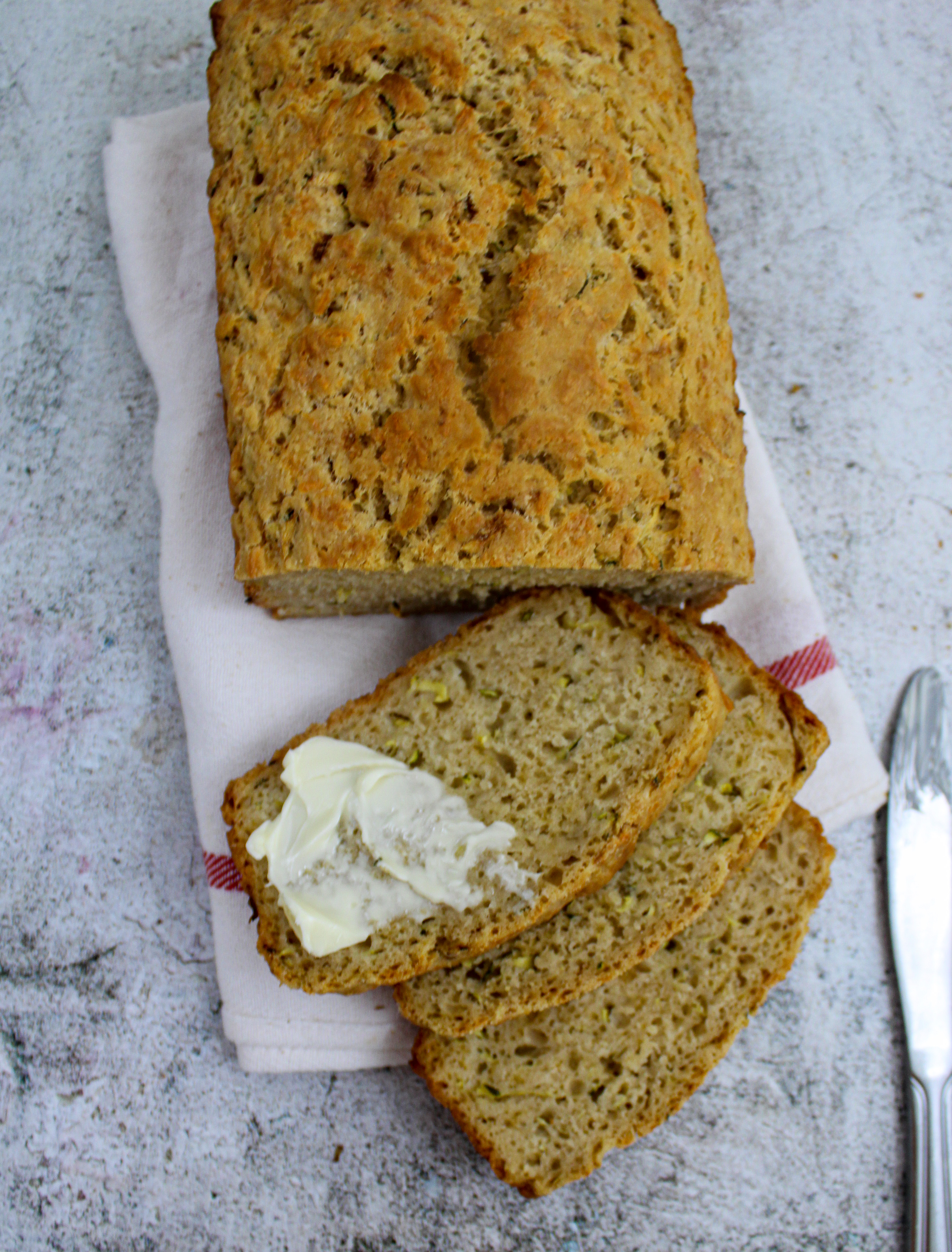 Cheesy Zucchini Beer Bread